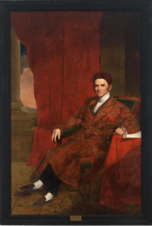 Chester Harding (American ; 1792-1866), Portrait of Amos Lawrence, Benefactor, 1846, oil on canvas, 81 15/16 x 52 3/8 in. (208.2 x 133 cm) frame: 90 3/16 x 60 5/8 in. (229 x 154 cm), Commissioned by the Trustees of Williams College, 1846.1