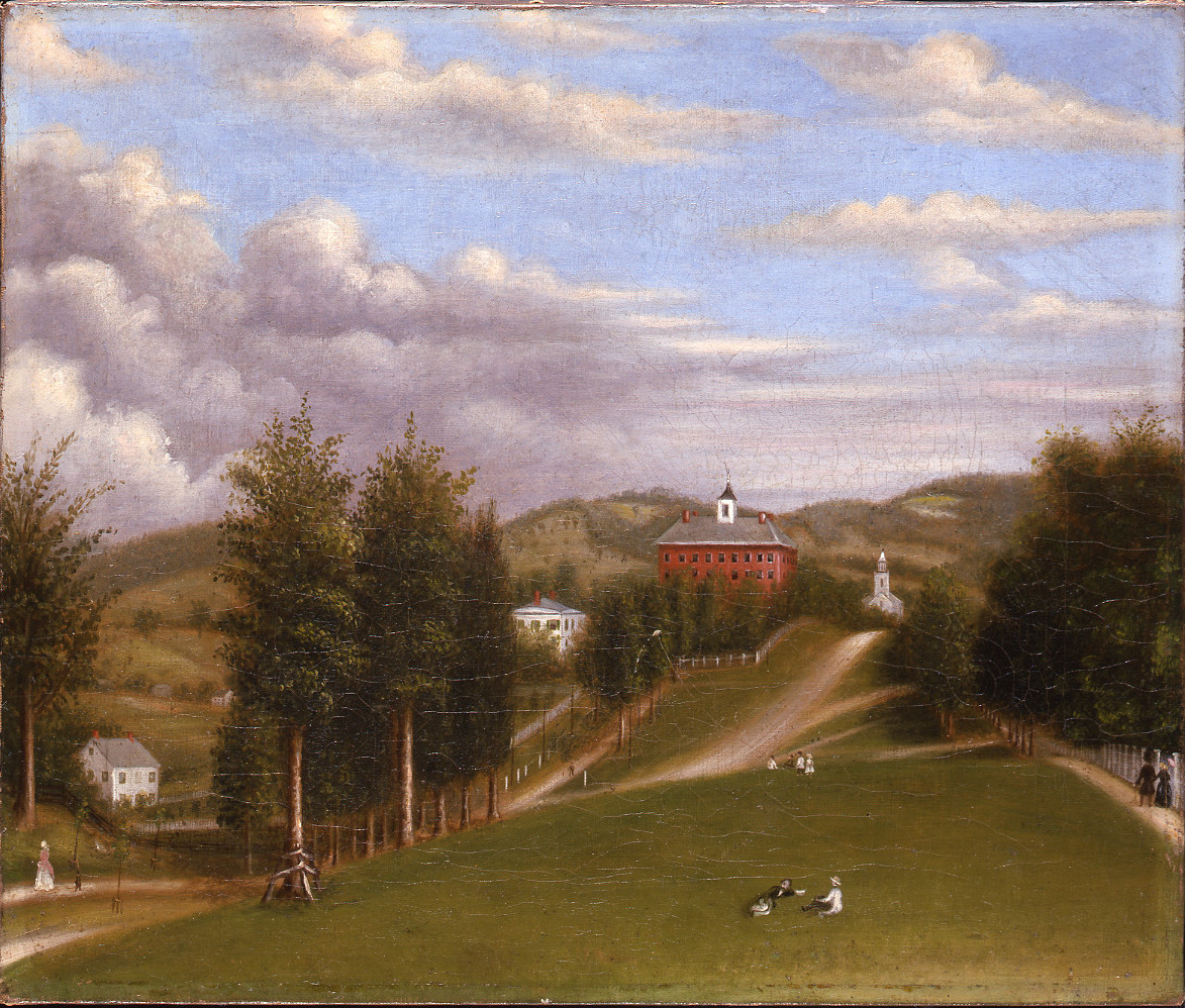 Anonymous (American) , 1872, View of Williams College: Griffin Hall looking toward West College, 14 15/16 x 17 15/16 in. (38 x 45.5 cm) frame: 18 5/16 x 21 5/16 in. (46.5 x 54.2 cm), Gift of Rev. Charles Jewett Collins, Class of 1845, PA.15